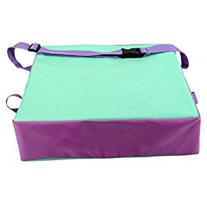 SODIAL(R) Children Artificial leather Laptop Lunch Children 's throwing Chair cushions Chair green + purple