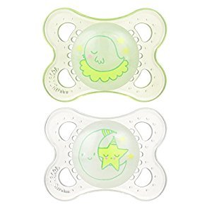 MAM Night Pacifier, Unisex, 0-6 Months