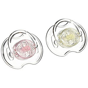 Philips Avent  Orthodontic Pacifier, 0-6 Months, 2 pack, Translucent, SCF170/17