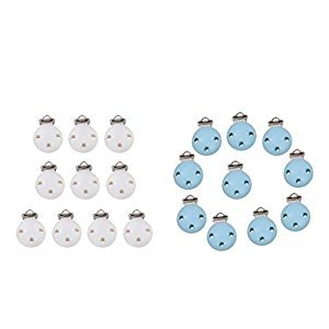 10 Silicone Adapter Rings for Button-style MAM NUK Baby Pacifier Ribbon Clips (Clear)