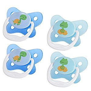 Dr Brown's Prevent Contour Pacifier, Stage 3 (12 Months+), Polka Dots Blue, 4-Pack