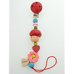 Adurable pacifier clip (Red)