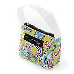 Ah Goo Baby Pacifier Tote, Bloom, Lime/Multi
