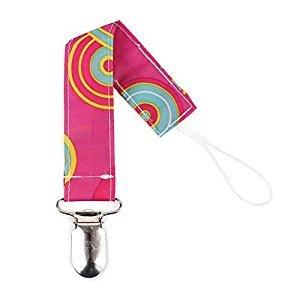 Bumkins Pacifier Clip, Pink Fizz