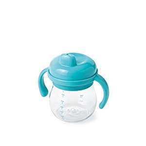 OXO Tot Transitions Sippy Cup with Removable Handles, Aqua, 6 Ounce