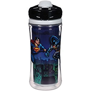 Playtex Baby Sipsters Spill-Proof DC Superfriends Batman Kids Sport Spout Cup, Stage 4 (24+ Months), Pack of 1 Cup