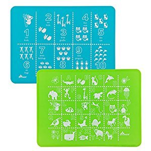Brinware Placemat Set 2 Pack - ABC 123 Blue/Green