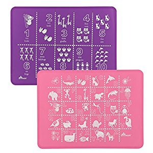 Brinware Placemat Set 2 Pack - ABC 123 Pink/Purple