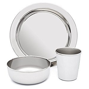 Stainless Steel Dish Set for Kids - BPA Free - by HumanCentric