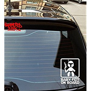 Baby Fett Car Sticker Vinyl Decal