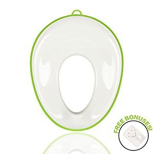 Meetbaby Plastic Potty Training Seat Cover,Toddler Toilet Seat Adapter,Kiddie Comfort Potty Training Ring For Baby Boy Girl, Portable Pee Traveling Potty,Splash Guard for Kids (Light Green)