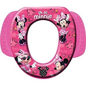 Disney Baby Minnie Mouse Soft Potty Seat with Pink Easy Grip Handles