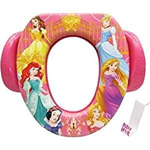 Ginsey Soft Potty Seat - Disney Princess, Padded, Soft and Durable w/Potty Hook Included