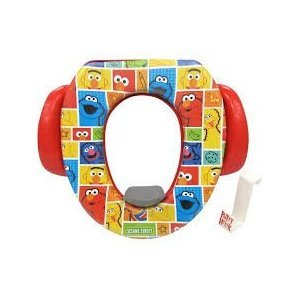 Ginsey Soft Potty Seat - Sesame Street, Padded, Soft and Durable w/Potty Hook Included