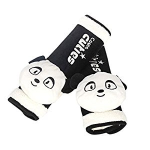 Lovely Panda Doll- Safe Car Soft Seat Belt Strap Cover, A Pair
