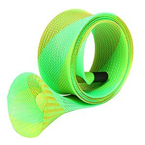 GogoForward Braided Mesh Tube Shape Skin Casting Fishing Rod Sleeve Cover Glove Protector