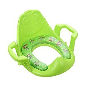BABYLE Adjustable Potty Training Seat,Soft Potty Seat for Children,Green