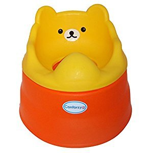 Teddy Potty Training Toilet Seat (Yellow & Orange)