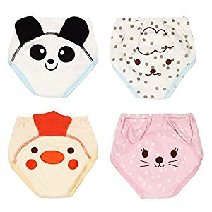 4Pack Baby Girls Traning Pants Toddler Cotton Cute Training Underwear Potty Cloth Diaper Panda Cat Size 90