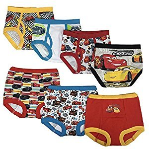 Disney Cars Boys Potty Training Pants Underwear Toddler 7-Pack Size 2T 3T 4T