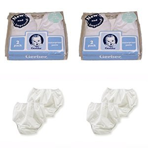 Gerber Plastic Pants, 12 Months, Fits 20-24 lbs. (4 pairs)