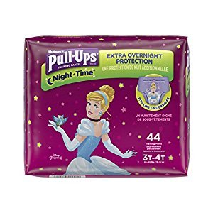 PULL-UPS NIGHT-TIME Training Pants Girl (44 Count)