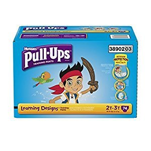 Pull ups Training Pants with Learning Designs for Boys, 2T-3T, 74 Count