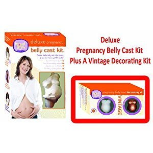 Deluxe Pregnancy Belly Cast Kit Plus A Vintage Pregnancy Belly Cast Decorating Kit