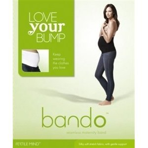 Fertile Mind Bando Luxury Maternity Band S/M White