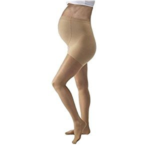 JOBST UltraSheer 8-15 mmHg Closed Toe Maternity Support Stocking, Silky Beige, Medium