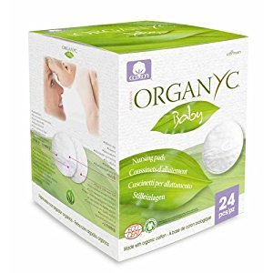 Organyc 1600584 100 Percent Organic Cotton Nursing Pads - 24 Count