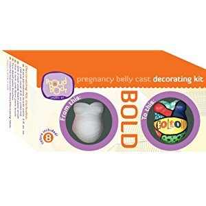 Proudbody Pregnancy Belly Cast Decorating Kit, Bold
