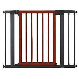 Munchkin 31283 Wood Steel Designer Gate (Dark Wood/Silver)