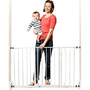 Regalo Easy Open 50 Inch Super Wide Walk Thru Gate, White