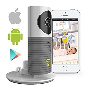 SEGMOI® Smart Baby Monitor with P2P Night Vision Record Video, Surveillance System Security Camera Compatible With iPhone & Android. Wifi Enabled Nanny Cam, 2 Way Talkback With Motion activated Cell Alerts (Grey)