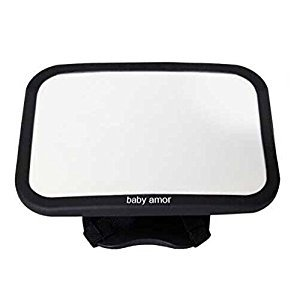 BACK SEAT MIRROR :: Baby & Mom REAR VIEW BABY MIRROR :: Easily Watch your PRECIOUS CHILD In-Car :: ADJUSTABLE, Convex and Shatterproof Glass :: GREAT GIFT