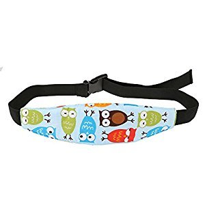 Baby Kids Car Seat Neck Relief Head Support Band with Adjustable Belt Random Color