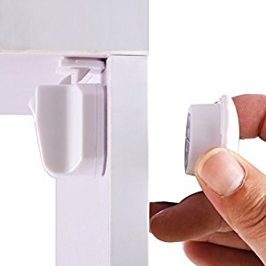 Cunina Easy Install Magnetic Baby Proofing Safety Cabinet Locks 4 Locks & 1 Key