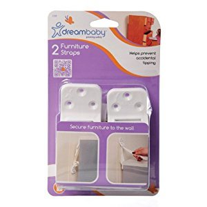 Dreambaby L199 Furniture Straps, 2-Pack (White)