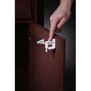 KidCo Spring Action Locks 4 pack, White