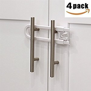 Sliding Cabinet Locks Baby Proof Knobs and Handles Up to 5
