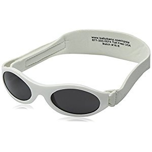 Baby Banz Adventure Banz Baby Sunglasses, Arctic White, 0-2 Years