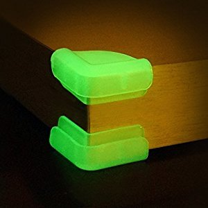 Baby Mate 12 PCS Premium Luminous Table Corner Protectors for Baby - Safety Corner Guards - Desk Corner Cushion - Safety Bumpers for Tables - Home Safety Products for Seniors (Luminous) 01121CA