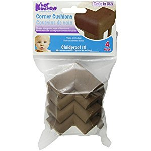 KidKusion Toddler Corner Cushions, Brown, 4-Pack