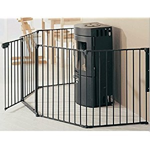 Bebemooi® Baby Safety Fence BBQ Fire Gate Fireplace Metal Plastic