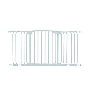 Dreambaby Chelsea Xtra-Wide Hallway Auto-Close Security Gate, White (38-Inch-42.5-Inch, Includes 1x3.5-Inch Plus 1x7-Inch Extensions) (Gate Height 29.5-Inch)