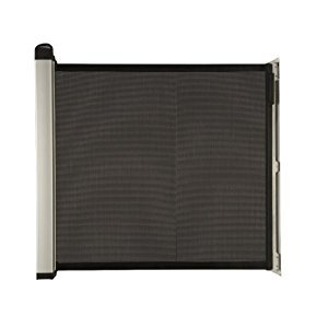 Lascal KiddyGuard Avant Retractable Baby Safety Gate, Black Mesh
