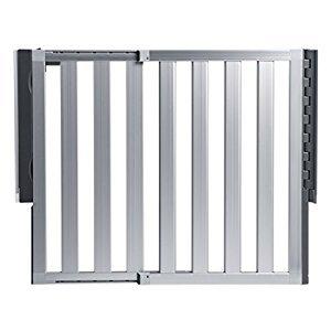 Munchkin Loft Aluminum Safety Gate, Silver
