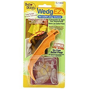 Baby Buddy Wedge Outlet Plug Remover with 6 Bonus Plugs, Orange/Clear, 1-Pack