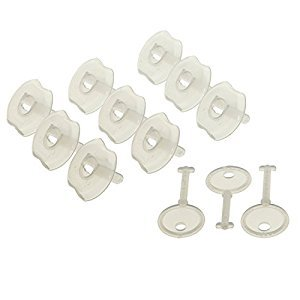 Dreambaby Keyed Outlet Plugs (9 plugs and 3 Keys), White